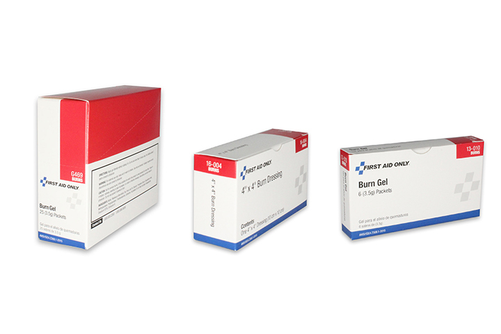 First Aid Burn Relief Products